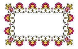 1 blom- ramvektor Arkivbilder