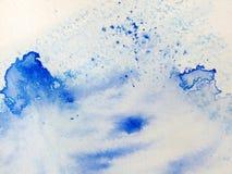 1 blue shapes vattenfärg Royaltyfri Fotografi