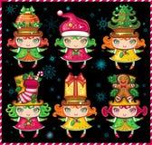 (1) bożego narodzenia pomagiery Santa royalty ilustracja