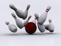 1 bowling Royaltyfri Fotografi