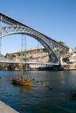 1. Brücke Dom-Luís Stockfotos