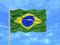 1 brazil flagga Arkivbilder