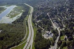 1 brittiska burnaby Kanada columbia huvudvägnr. Arkivbild