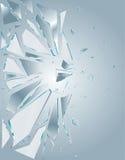 1 broken glass white Royaltyfri Bild