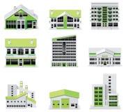 (1) budynków miasta tworzenia diy zestawu mapy część royalty ilustracja