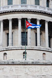 (1) budynku capitolio cuban flaga Havana Zdjęcia Stock