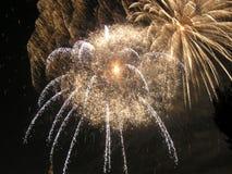 1 burst fireworks Στοκ Εικόνες