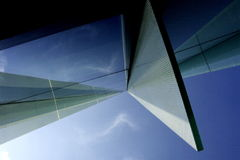 1 byggnadsgeometriperspektiv arkivbild