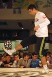(1) byka konkursu czerwony piłki nożnej ulicy styl Obrazy Royalty Free