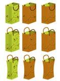 1 cadeau de sac traité illustration stock