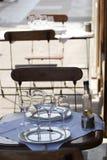 1 cafe stemware tabeli ulic Zdjęcie Royalty Free