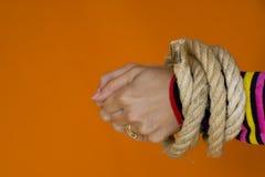 1 captive kvinna Arkivbild