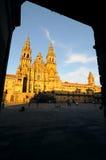 1 cathédrale aucun Santiago Image libre de droits