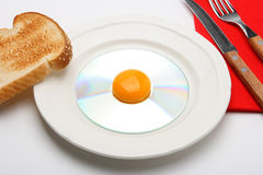 1 cd na śniadanie Fotografia Royalty Free