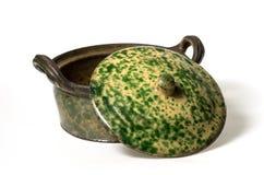 (1) ceramiczny pokrywkowy garnek Obraz Royalty Free