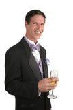1 champagnemansmoking Arkivfoton
