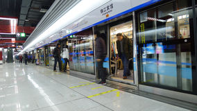 1 chengdu linje metro Royaltyfria Bilder