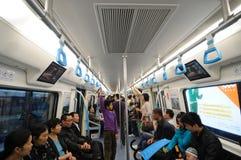 1 chengdu linje metro Royaltyfri Bild