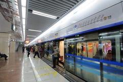 1 chengdu linje metro Arkivfoton