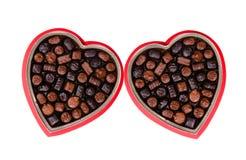 1 chokladvalentin Arkivfoton