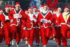 1 claus race santa Fotografering för Bildbyråer