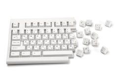 1 clavier cassé Photographie stock libre de droits