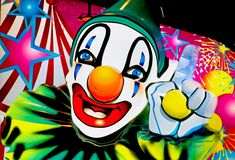 1 clownframsida stock illustrationer