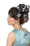 1 coiffure w för 2 b Royaltyfria Bilder