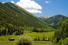 1 colorado bergdal Fotografering för Bildbyråer