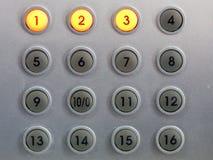 1 contrôle de boutons Images stock