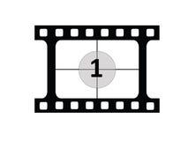 1 coutdown film Zdjęcia Royalty Free