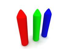 1 crayons rgb Royaltyfria Foton