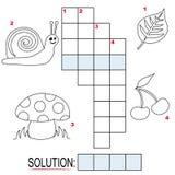 (1) crossword dzieciaków część łamigłówka Fotografia Stock