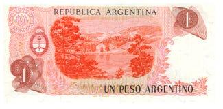 1 cuenta del Peso de la Argentina Fotos de archivo libres de regalías