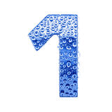 (1) cyfry kropel listu metalu woda Obrazy Stock