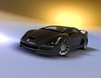 (1) czarny gt V8 Zdjęcie Stock