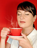 1 czerwony kawowa Zdjęcia Royalty Free