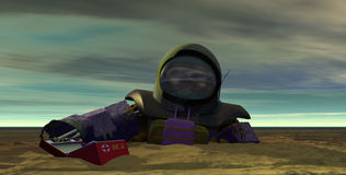 1 döda astronaut Royaltyfri Bild