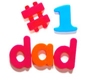 #1 dad Stock Photo