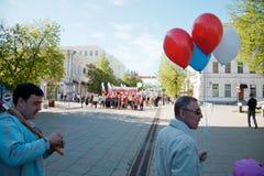 1 dagdemonstration kan penza russia Royaltyfri Foto