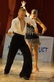 1 danslatin Arkivfoto