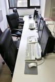 1 datorkontor Arkivfoto