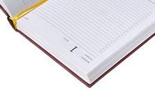1 datumdagbok måndag Arkivbild