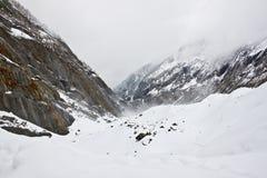 1 de法国糖渍的冰川最大的mer 免版税库存图片