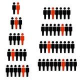 1 de cada estatística figura Imagem de Stock Royalty Free