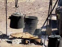 1 de cocinar al aire libre Imagen de archivo