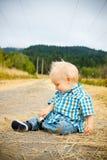 1 de Jongen van éénjarigen Stock Foto