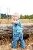 1 de Jongen van éénjarigen Stock Afbeeldingen