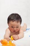1 de jongen van éénjarigen Stock Fotografie