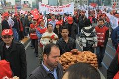 1 de mayo en Taksim, Estambul Imagen de archivo libre de regalías